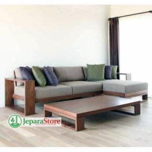 Sofa Kayu Sudut Minimalis